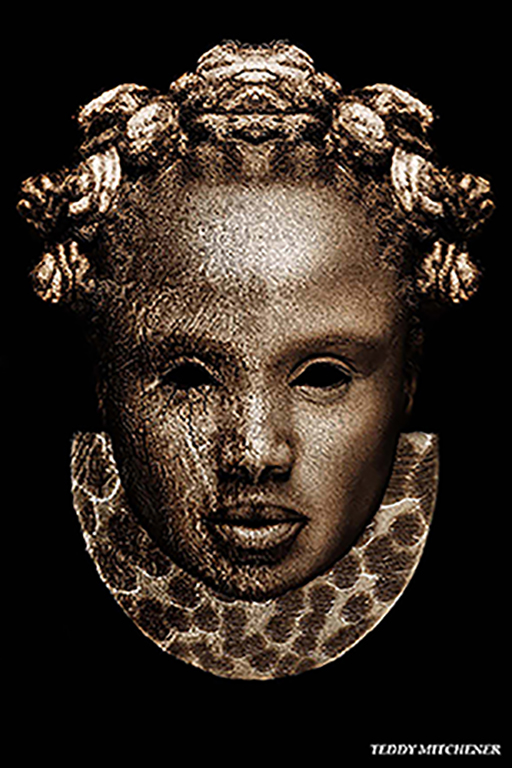 Disappearing Africa mask, Queen Idia of the Edo Empire, Nigeria, copyright Teddy Mitchener