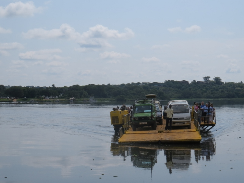 Crossing on the ferry across the Nile into Murchison falls National Park in 2017. Ccopyright Rupi Mangat (800x600)